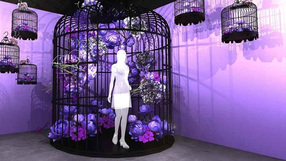 紫色鳥籠花園