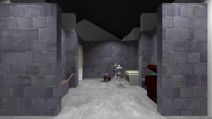 古墓3D示意圖