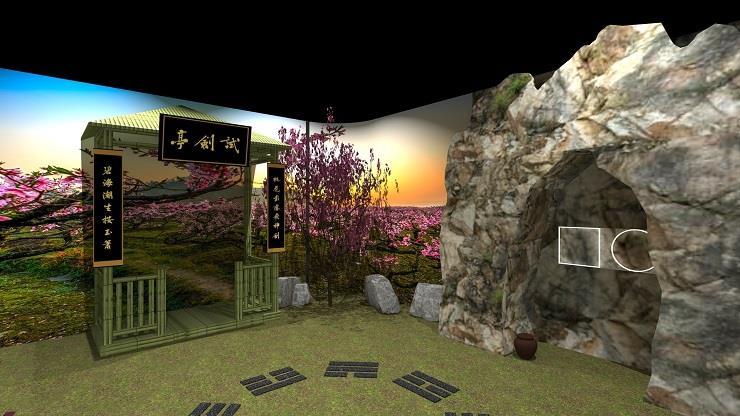 桃花島3D示意圖