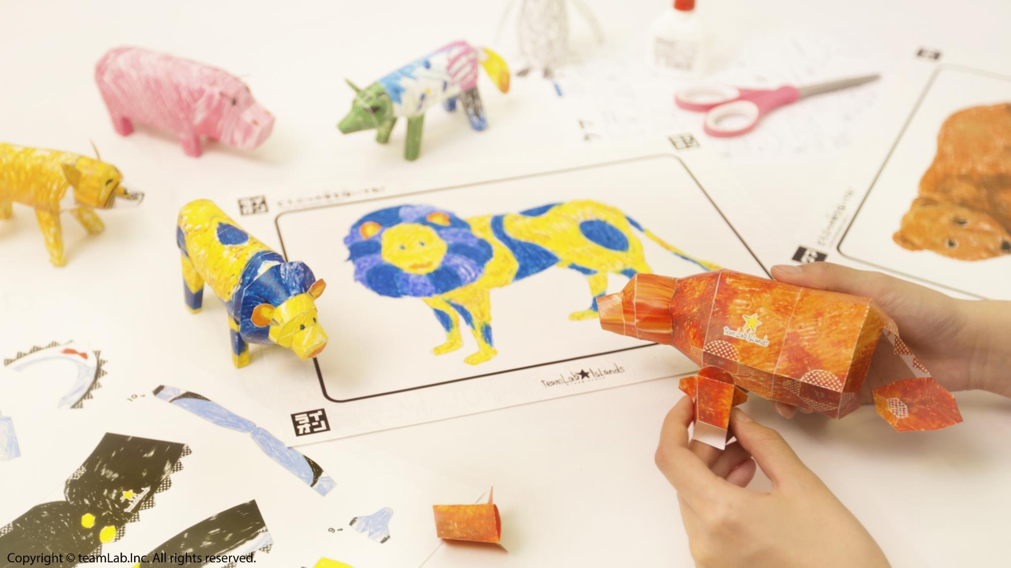 彩繪動物立體